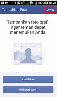 upload foto di akun facebook baru lewat hp