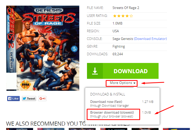 cara download roms sega gratis