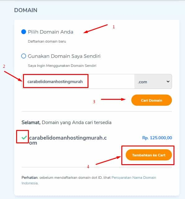 beli domain hosting murah